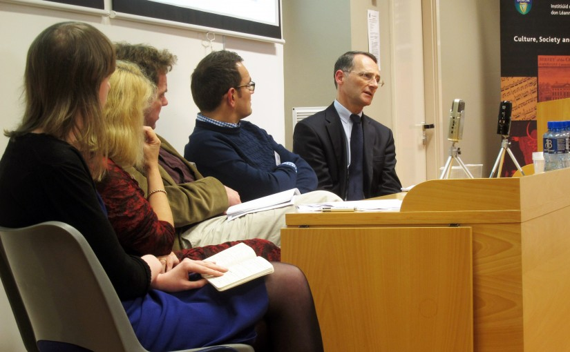 Panel 2: Student culture and experience at the Medical training, student experience and the transmission of knowledge, c.1800-2014 symposium in University College Dublin, October 2014.